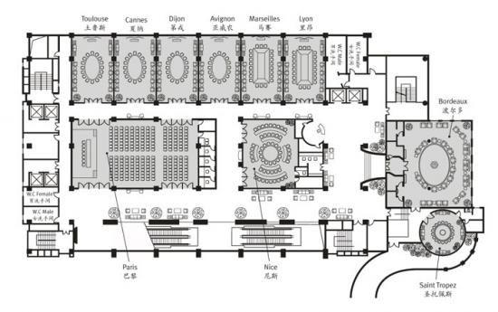 Convention Center Floor Plan 1