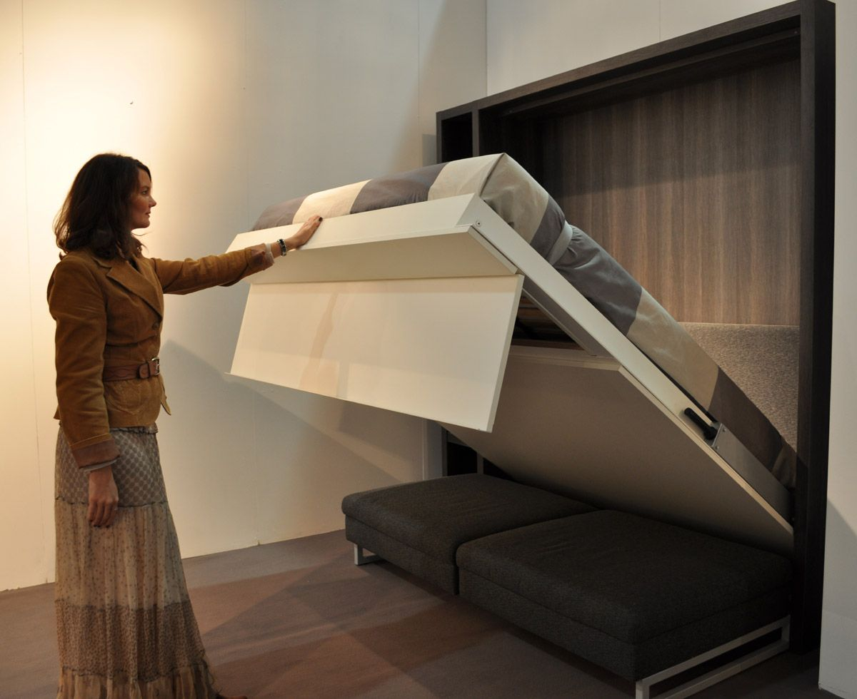 armoire lit rabattable avec canap intgr factory - Armoire Lit Escamotable Canape Integre