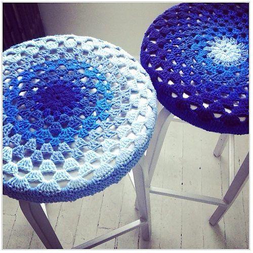 taburete crochet cubre patrón libre | FUNDAS TEJIDAS | Pinterest ...