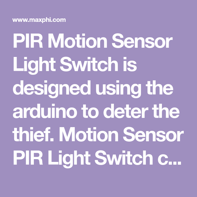 Pir Motion Sensor Light Switch With Images Motion Sensor Lights Motion Sensor Light Sensor