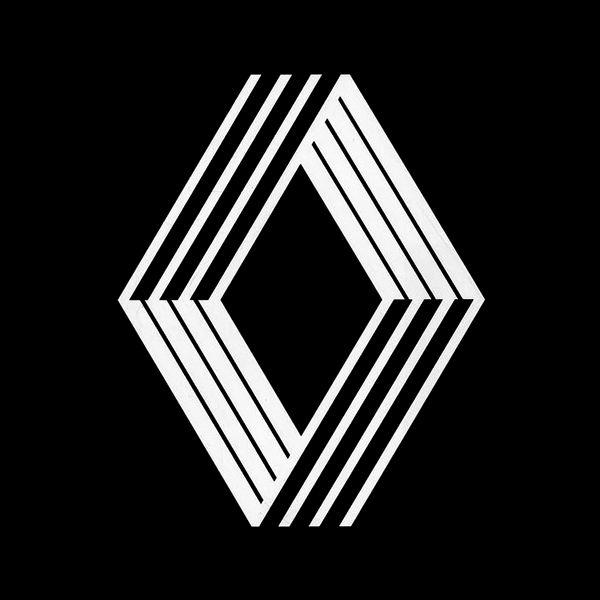 renault 1972 victor vasarely logos logos logo branding black white logos. Black Bedroom Furniture Sets. Home Design Ideas