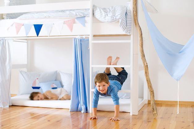 gardinen vorh nge 4 hochbettvorh nge blau ein designerst ck von marumaru bei dawanda lm. Black Bedroom Furniture Sets. Home Design Ideas