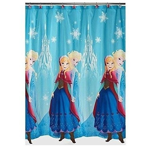 Disney Shower Curtain Frozen Anna Elsa Princess Kids Bathroom