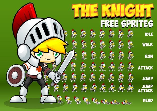 Free 2D character sprites with knight character  Suitable for your