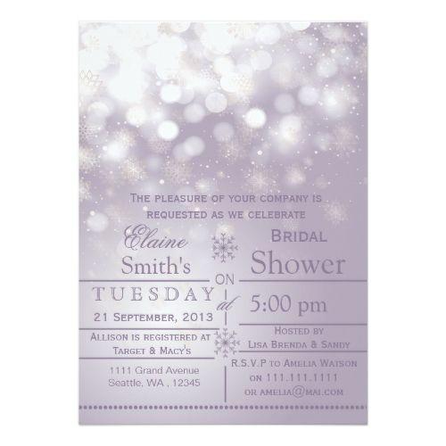 purple snowflakes winter bridal shower invite bridal shower invitations winter wedding invitations wedding invitation