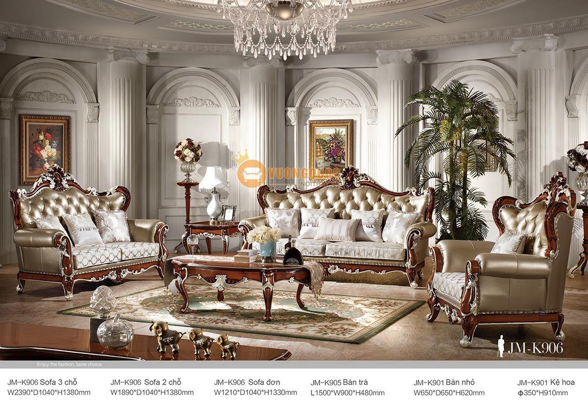 bộ sofa nhập khẩu trang hoàng jmk906-1