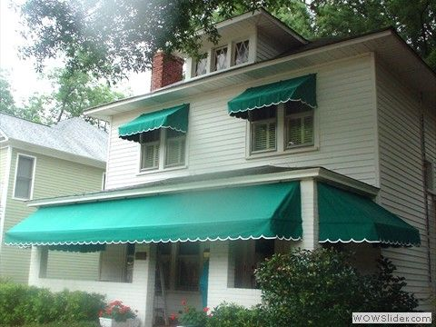 maine lime retractable green awning canvas bay awnings