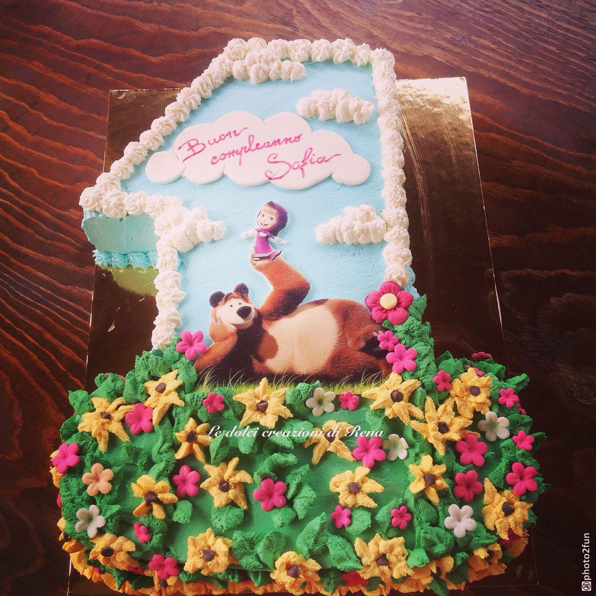 Torta Masha E Orso Con Panna Le Dolci Creazioni Di Rena Nel 2019