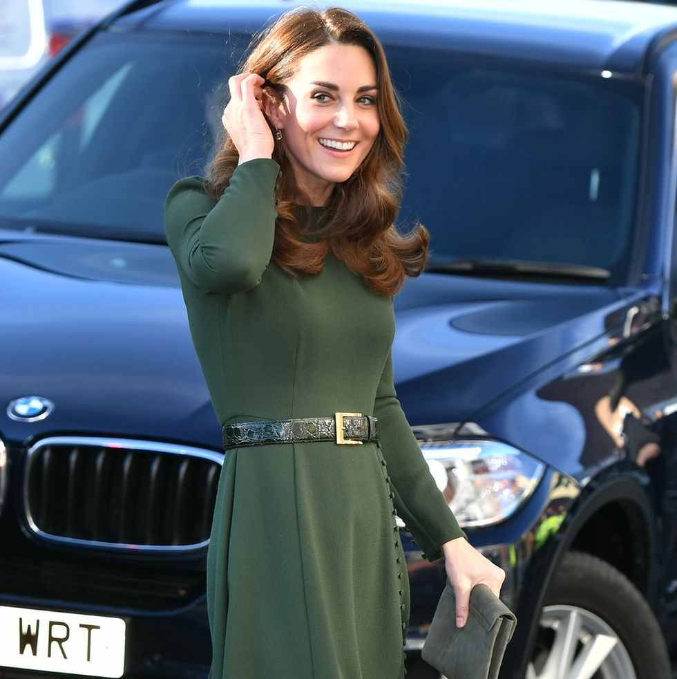 Kate Middleton Turns Heads In Form-Fitting Hunter Green