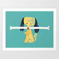 Art Print featuring Lucky Find by Budi Kwan