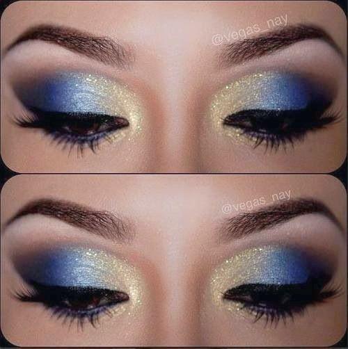 12 Wunderschöne blaue und goldene Augen Make-up-Looks und Tutorials