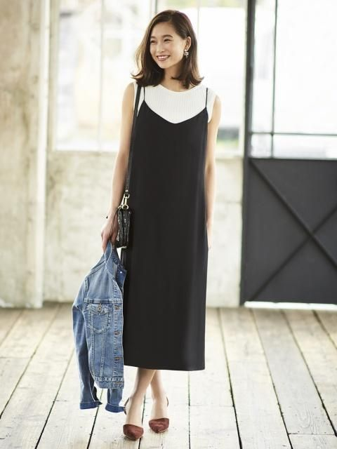Women Crepe Camisole Long Dress In 2018 Uniqlo Spring Pinterest