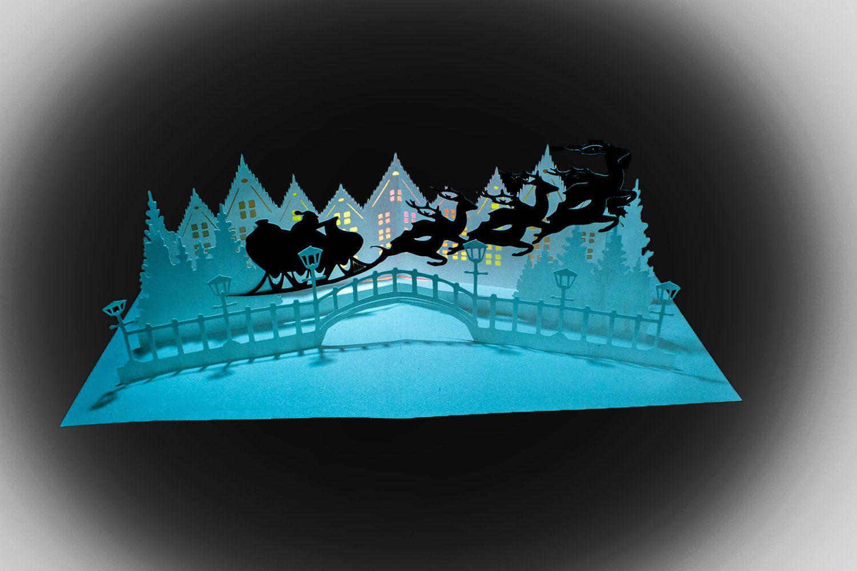 Sleigh Bells Ringing Pop Up Card Template Pop Up Card Templates Sleigh Bell Christmas Lanterns