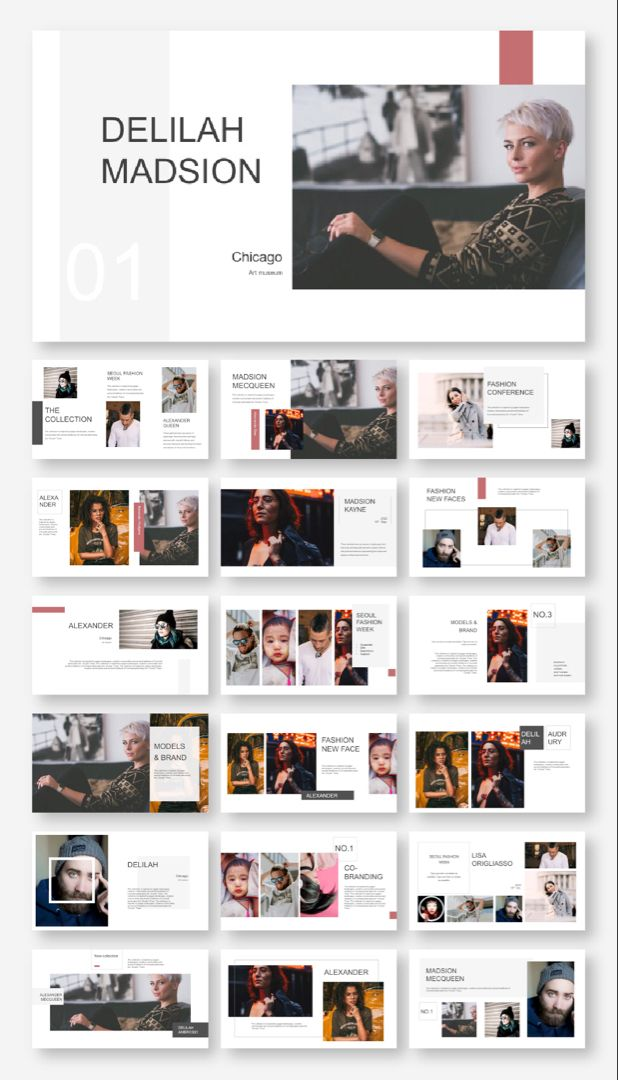 Clean Fashion Model Presentation Template – Original and High Quality PowerPoint Templates