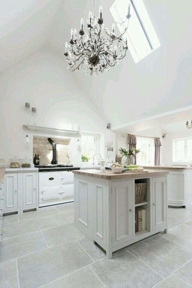 Pin By Janel Musco On Flooring Modern Kitchen Flooring Modern Kitchen Tile Floor Grey Tile Kitchen Floor