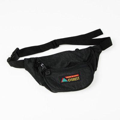 99cc1759b31a vtg 80s 90s plain blk EVEREST FANNY PACK waist hip sack bum bag purse  unisex OS  24.00