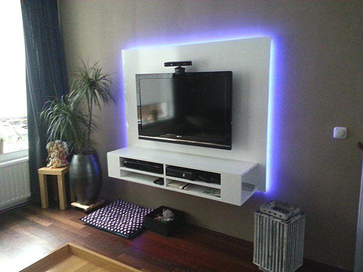 bouwtekening tv meubel hangende tv kast zelf maken hout home