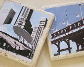 """Chicago Sight Seeing Coasters include the """"Bean"""" and Navy Pier"""