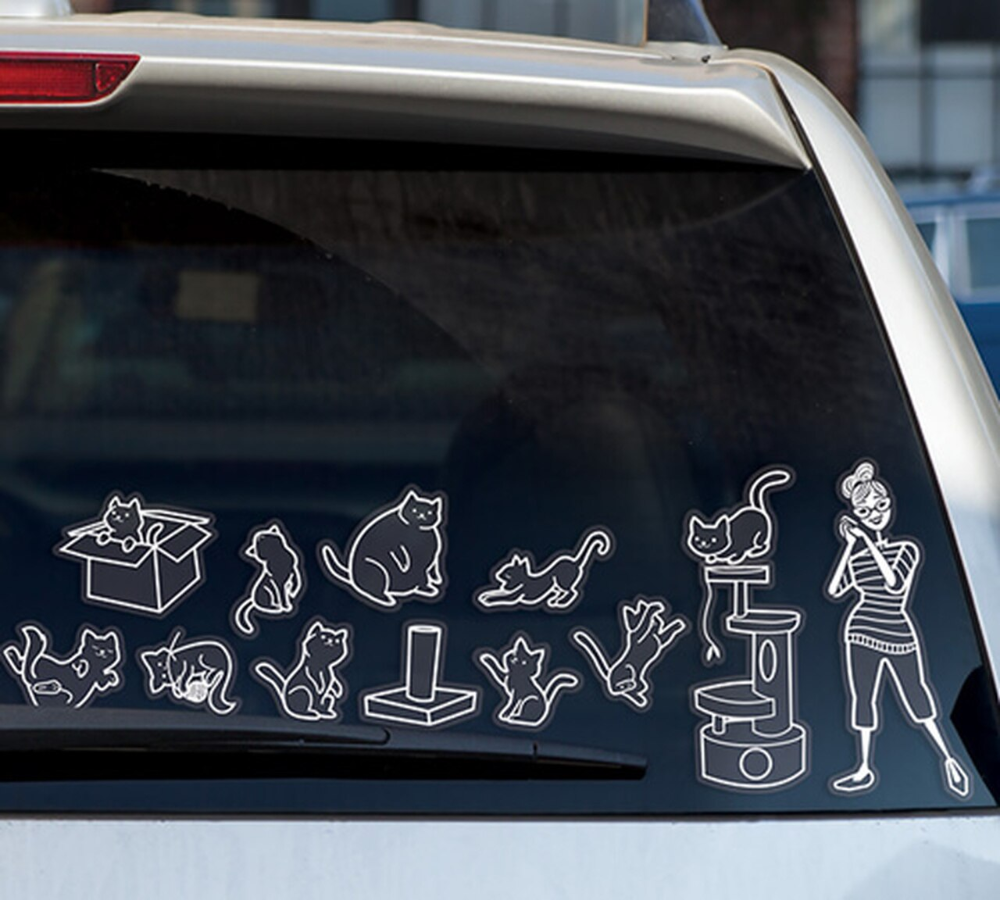 Cat Lady Car Stickers In 2020 Crazy Cats Cat Lady Crazy Cat Lady [ 900 x 1000 Pixel ]