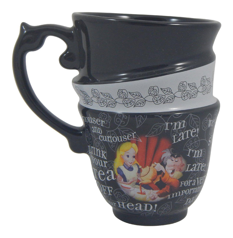 Amazon.com: DISNEY PARKS EXCLUSIVE : Alice In Wonderland Quotes 12oz Ceramic  Cup: Mugs: Kitchen U0026 Dining