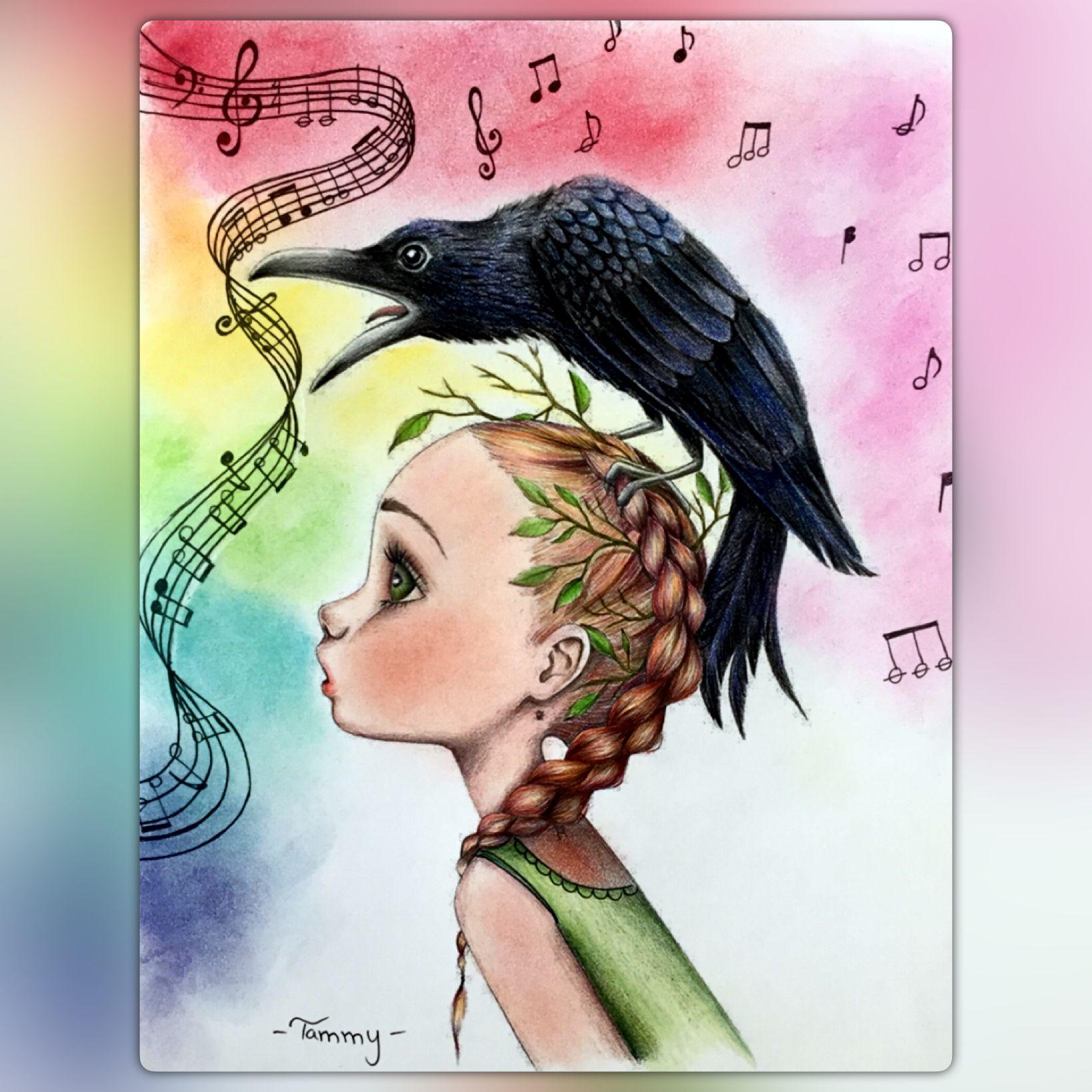 """Musica"" Emmanuelle Colin Coloriage Wild Collection"