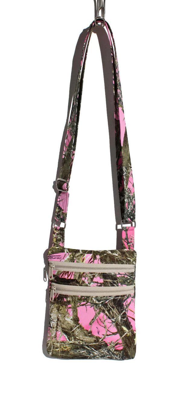 499b0a205f Pink Camouflage Crossbody Purse - True Timber Zipper Bag for Women ...