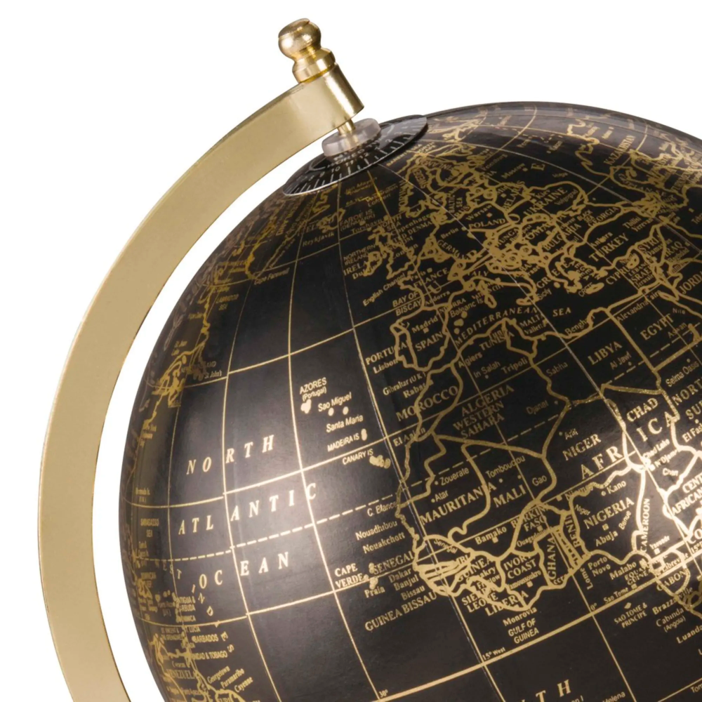 Black And Gold Globe 5th Avenue Maisons Du Monde Gold Globe Globe Maisons Du Monde