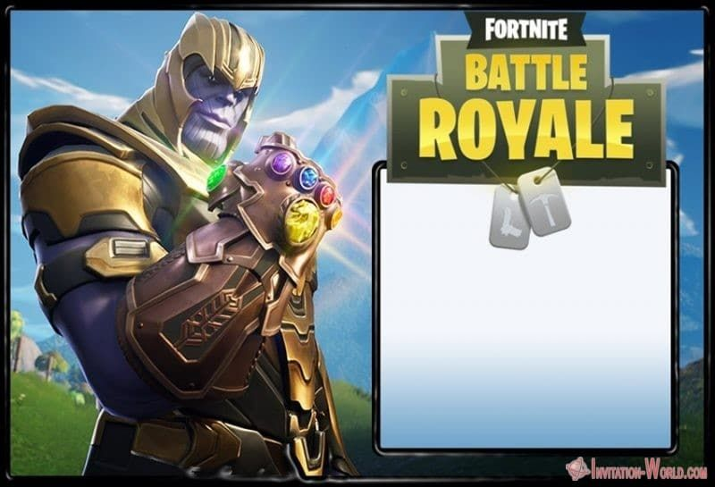 8 Fortnite Invitation Templates For Epic Party Invitation World Boy Birthday Invitations Birthday Party Invitations Free Printable Birthday Invitations
