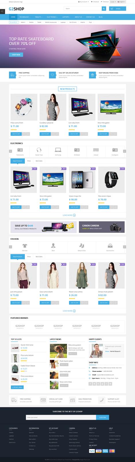 G2Shop New Premium Responsive #Prestashop Theme #tech #fashion #webdesign