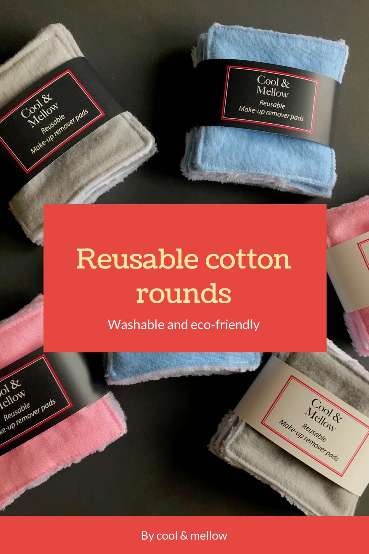 Reusable cotton rounds set of 10, 15, 20. Zero waste