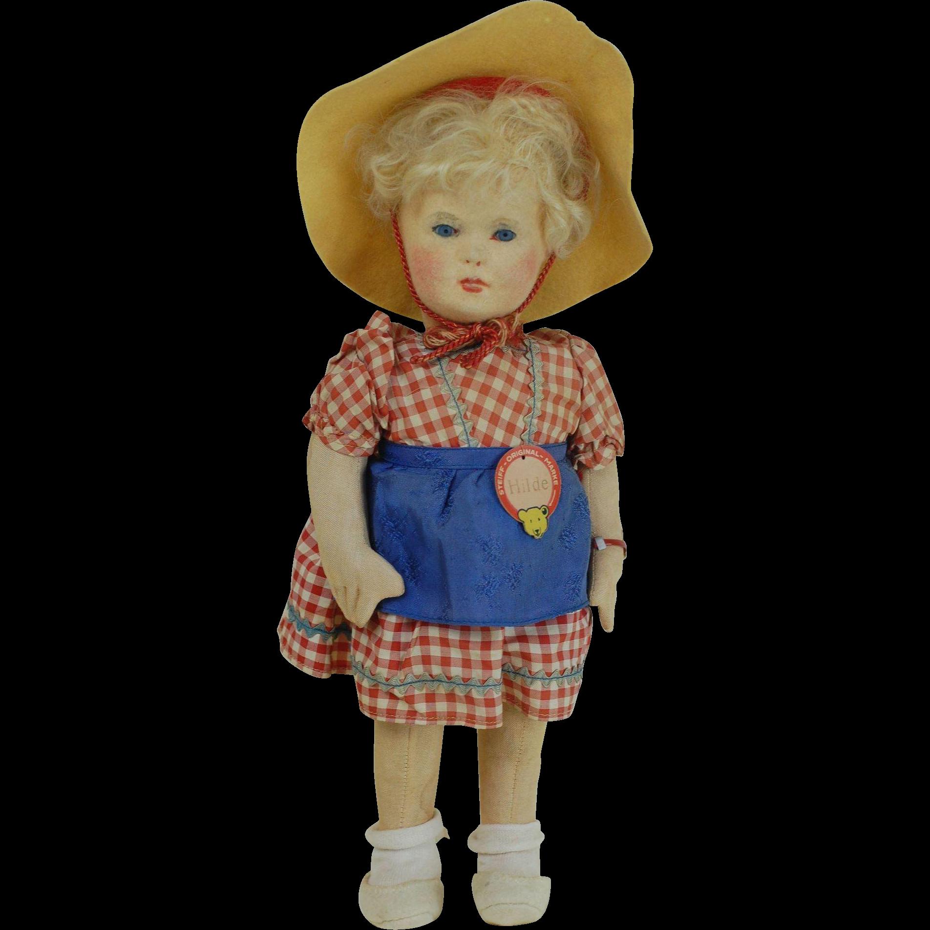 Rare near Mint Steiff Hilde Doll All ID 1939 Steiff