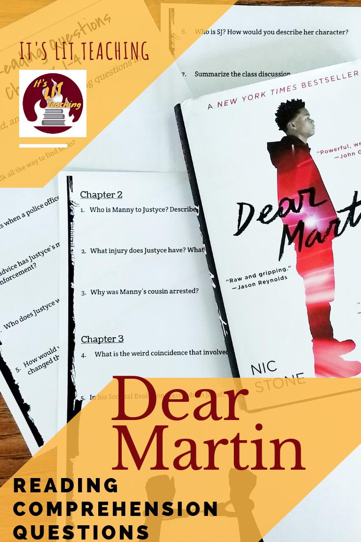 Dear Martin Reading Comprehension Questions | High School