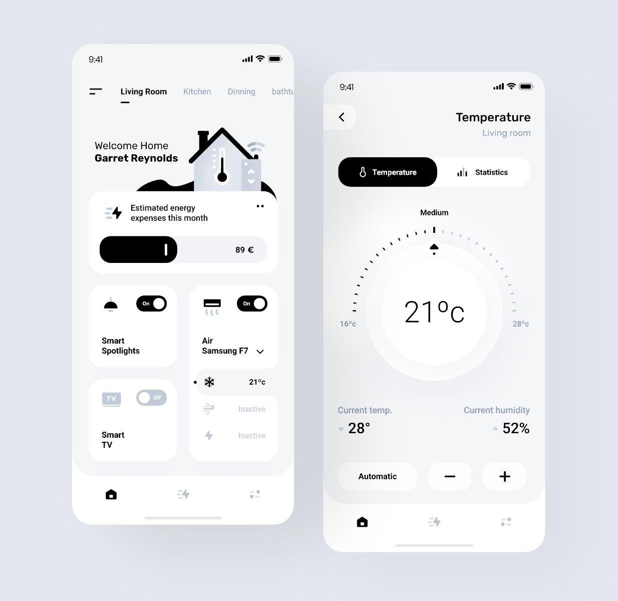 Smart Home App Design By Manuel Rovira Uidesign Mobile App Design Inspiration App Interface Design App Design