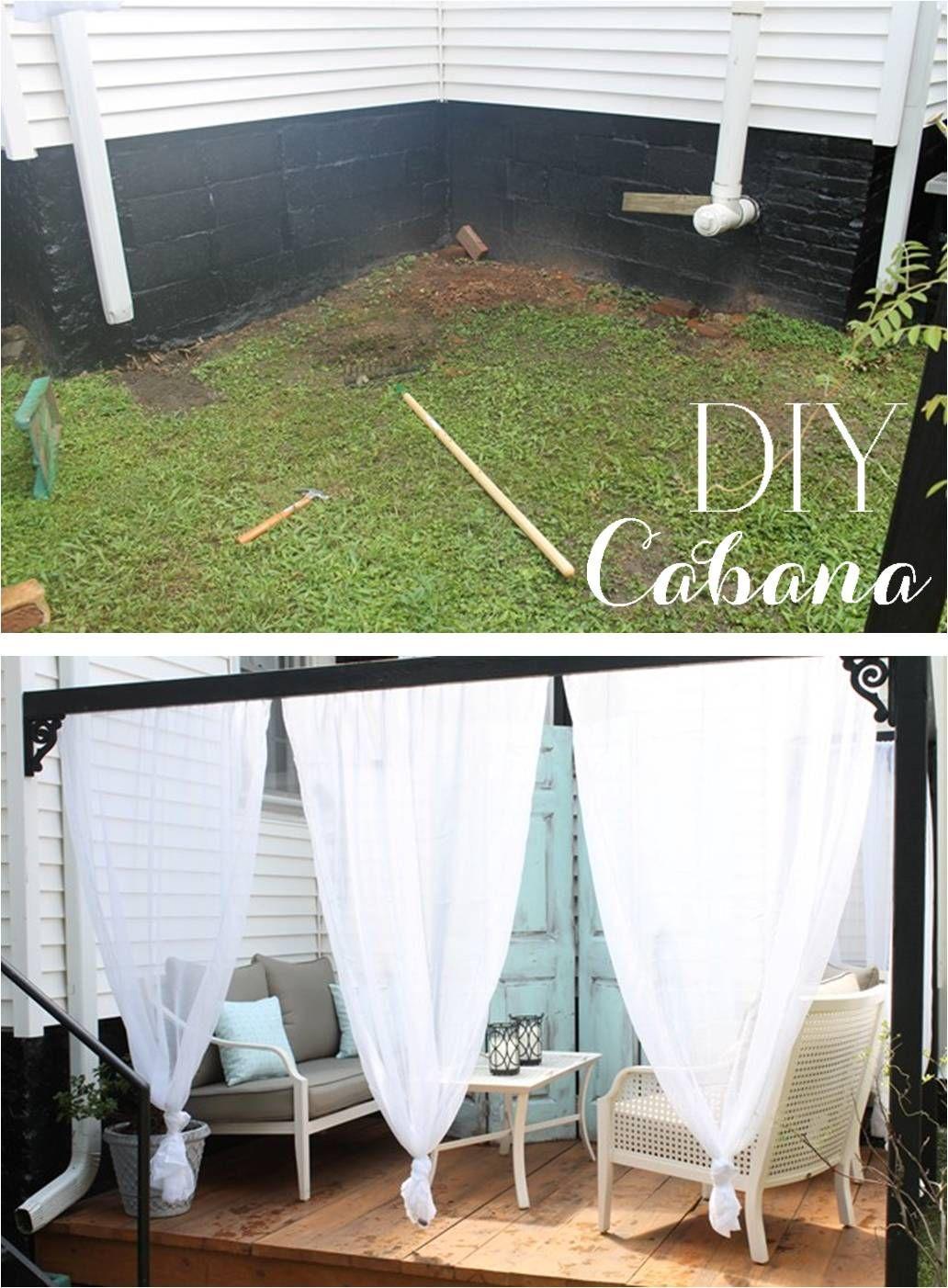 DIY Outdoor Cabana Canopy With Curtains