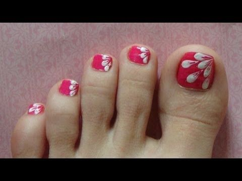happy summer toes naildesign  youtube  simple toe nails