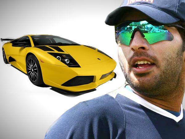 Indian Batsman Yuvraj Singh Was Seen Racing His Lamborghini