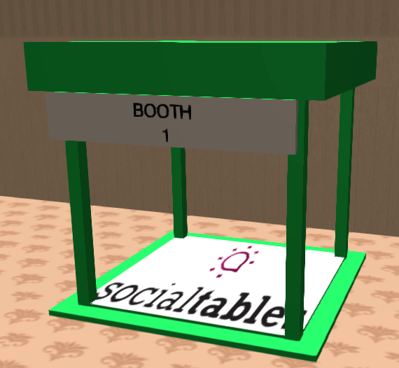 Trade show booths in 3D! SocialTables.com   Event Planning ...