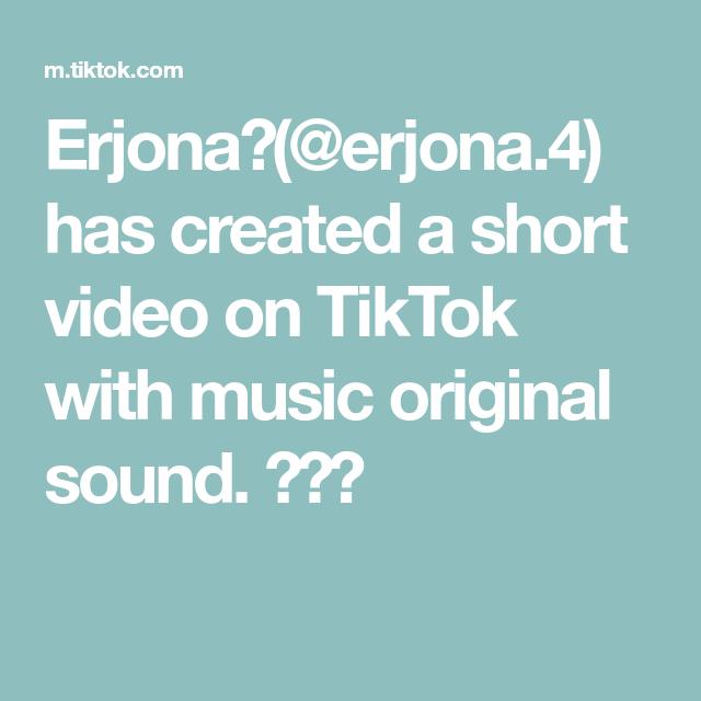 Erjona Erjona 4 Has Created A Short Video On Tiktok With Music Original Sound The Originals Video Anime Drawings Tutorials
