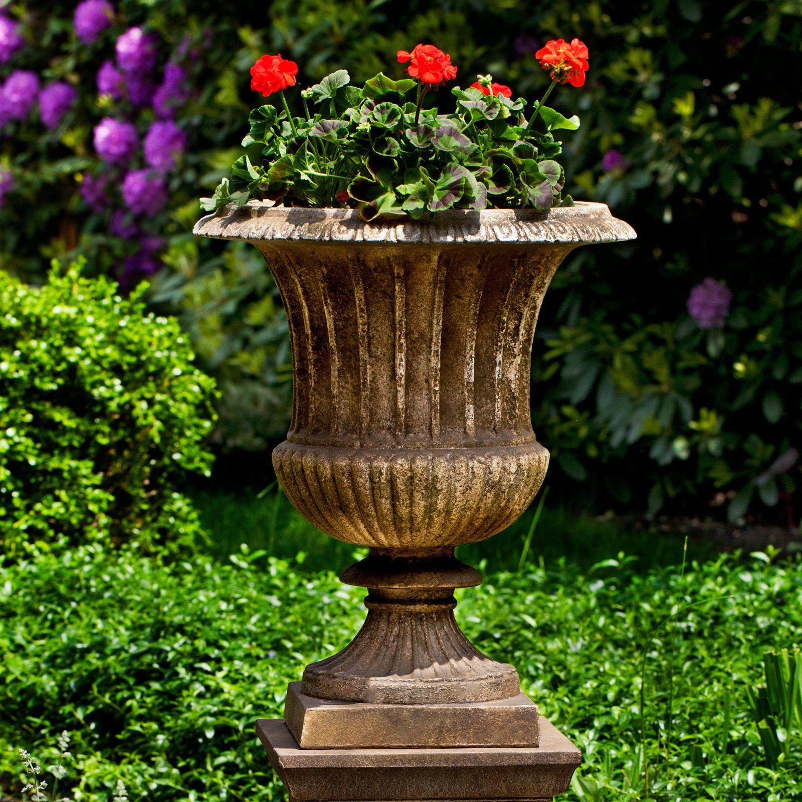 Campania International Smithsonian Classical Urn Cast Stone Planter | From  Hayneedle.com