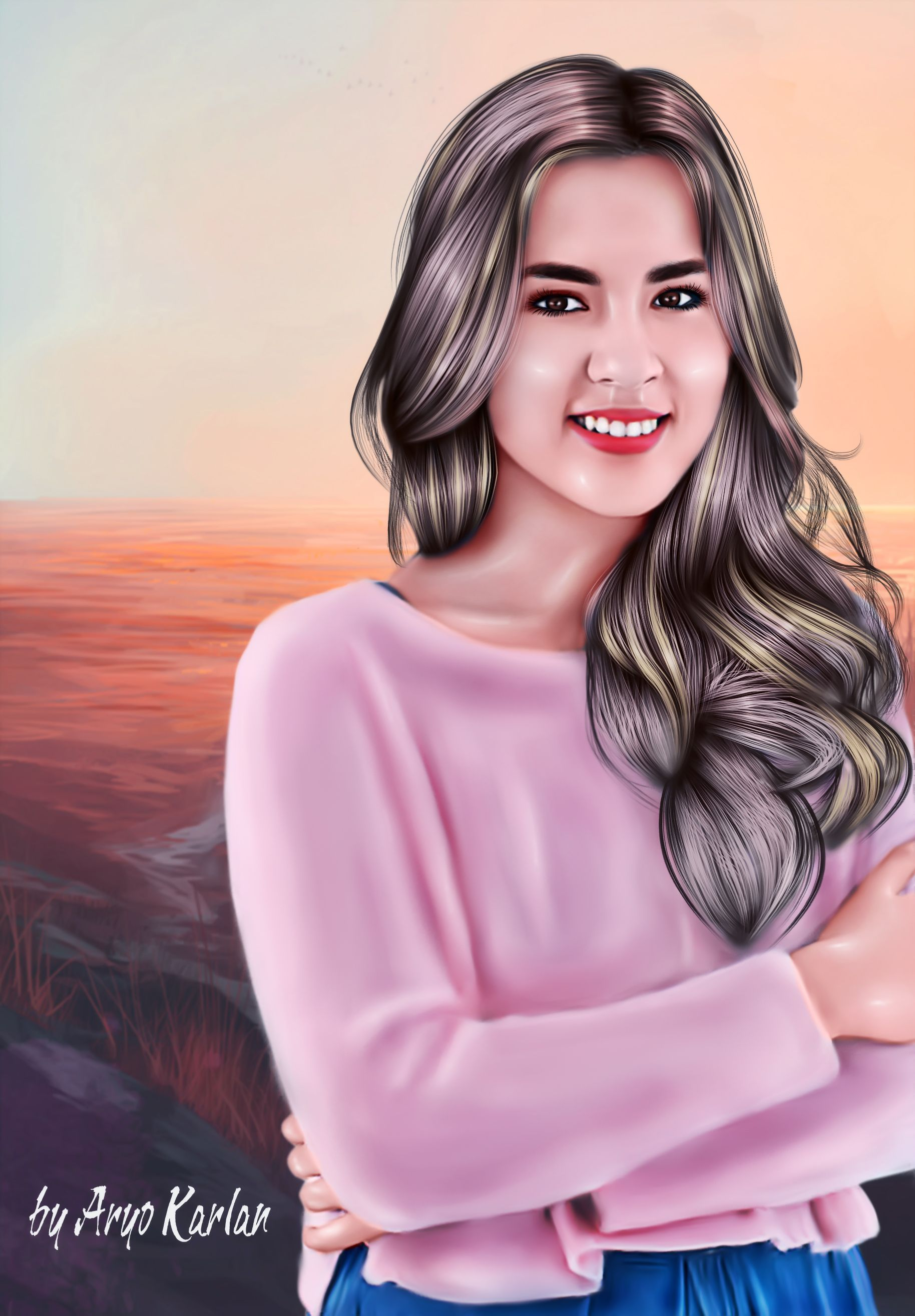 Pin oleh Aapsmoveon di Wanita (Dengan gambar) Lukisan