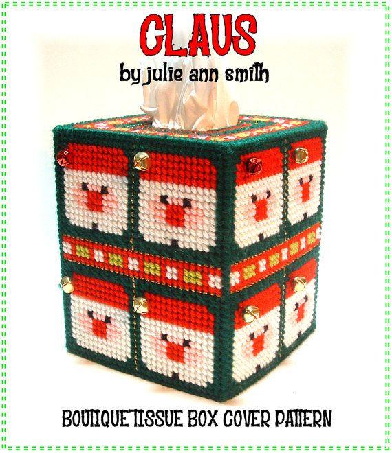 Julie Ann Smith Designs CLAUS Plastic Canvas Boutique Tissue Box ...
