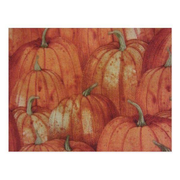 Pumpkin Patch Postcard   Zazzle.com #pumpkinpatchoutfitwomen