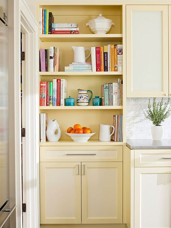 Here's a terrific way to create storage and a focal point using less than 12 inches of floor space: http://www.bhg.com/decorating/storage/shelves/bookshelves-styles-sizes-photos/?socsrc=bhgpin060814floortoceilingbookshelves&page=1