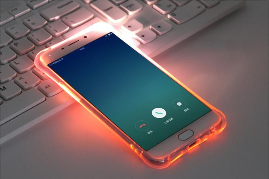 Case For Samsung Galaxy S8 LED Light Flash Flexible Rubber Cover ...