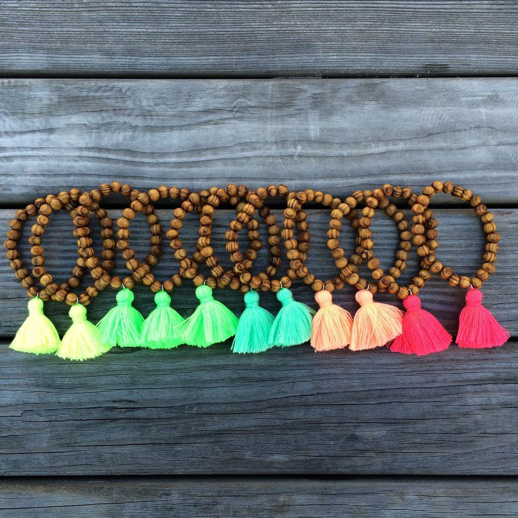 Tassel Bracelet - Wood - Arm Party