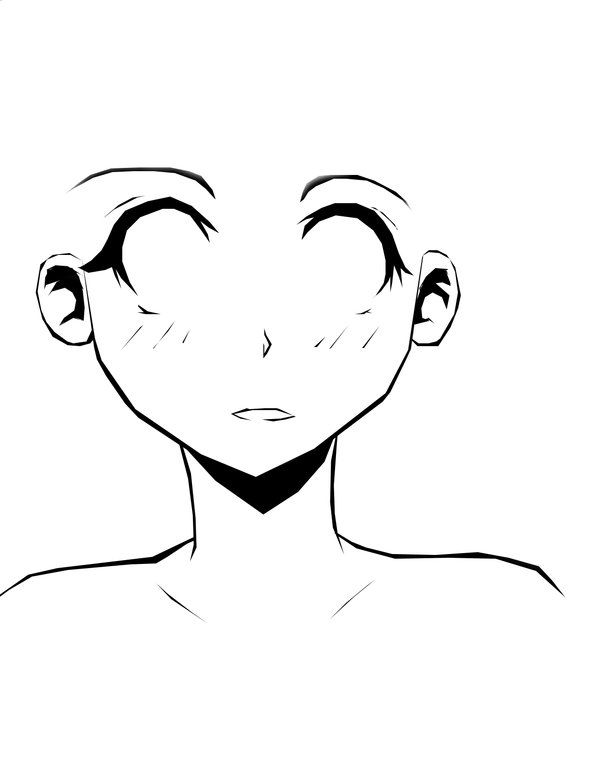 Anime Face Outline Google Search