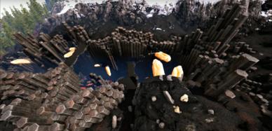 Wyvern Trench (Ragnarok) | Ark | Trench, Ark, Wood