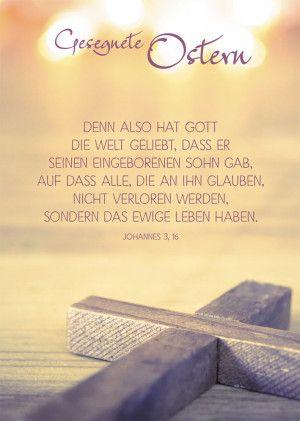 Postkarte Gesegnete Ostern Religion Ostern Christliche