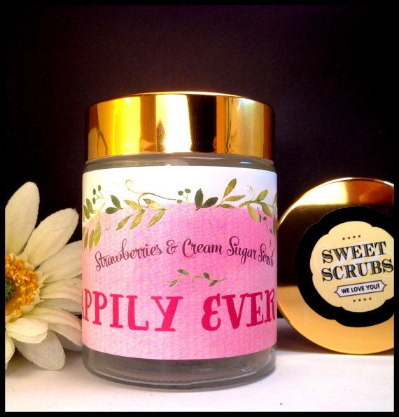 Strawberries&Cream Sugar Scrub by Happily Ever After https://www.etsy.com/listing/210863309/strawberries-cream-sugar-scrub-by