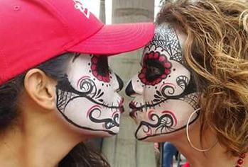 mexican skull mask day of the dead mask face paint st petersburg fl tampa fl sarasota fl